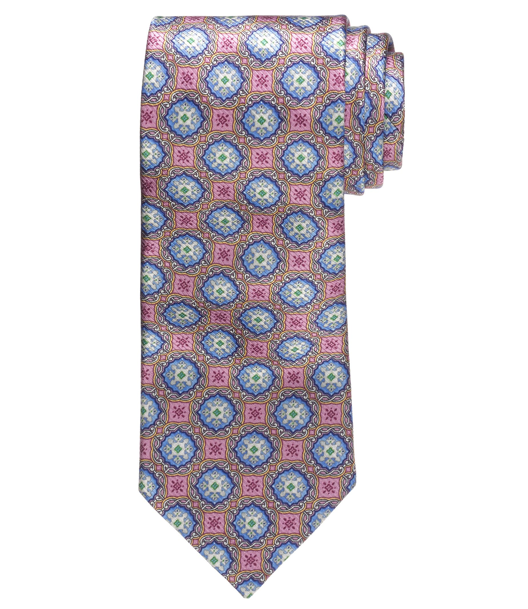 Signiture Gold Collection Medallion Print Tie