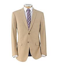 Joseph Slim Fit 2-Button Cotton Suit with Plain Front Trousers