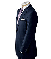 Signature 2-Button Tailored Fit Wool Suit Extended Sizes
