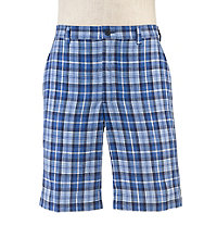 VIP Linen Tailored Fit Plain Front Shorts Extended Size