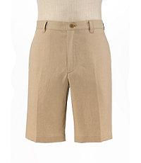 VIP Linen Tailored Fit Plain Front Shorts