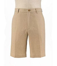 VIP Linen Tailored Fit Plain Front Shorts Extended Sizes