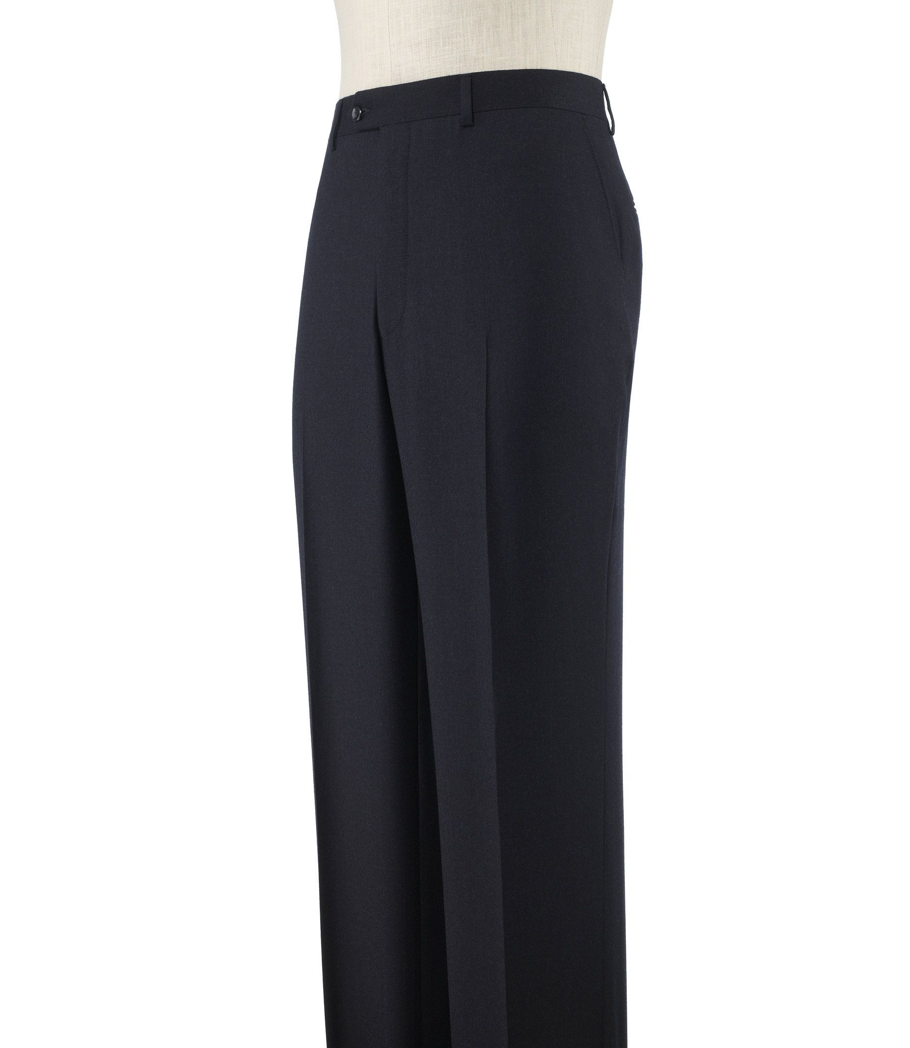 Executive Tailored Fit Plain Front Wool/Cashmere Trousers