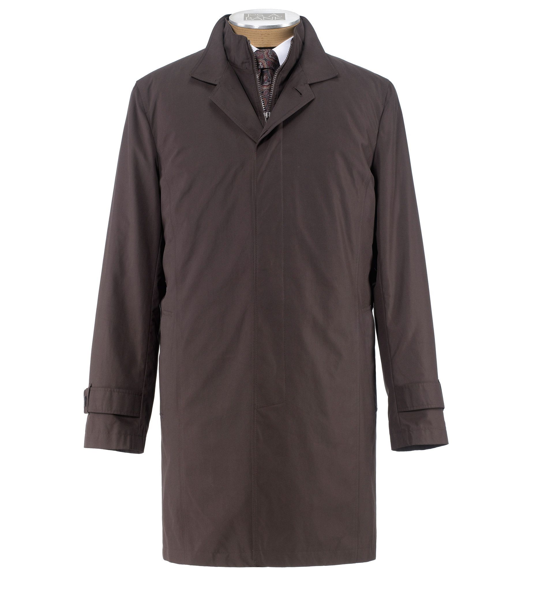Joseph Three-Quarter Length Double Collar Raincoat
