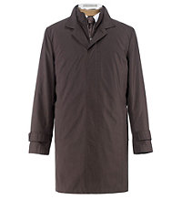 Joseph Three-Quarter Length Double Collar Raincoat