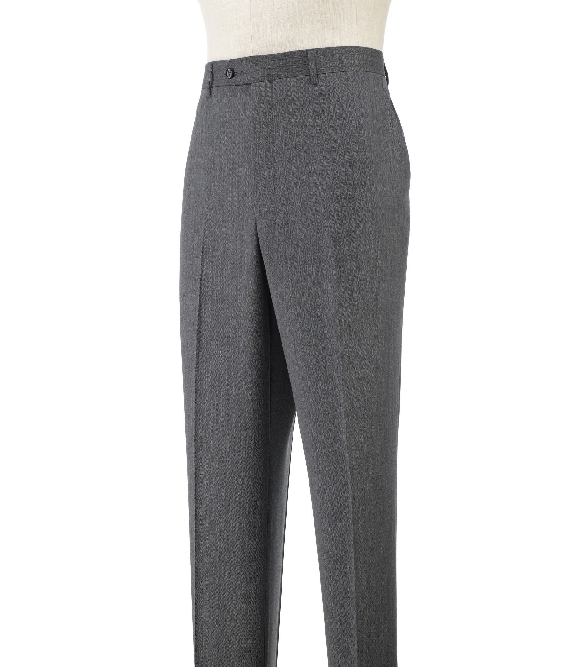 Signature Plain Front Trousers-Extended Sizes