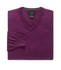 Signature Merino Wool V-Neck Sweater Big/Tall