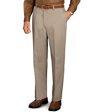 Traveler Slim Fit Twill Plain Front Pant