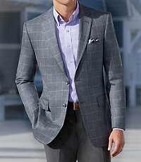 Signature Tailored Fit 2 Button Wool/Silk Sportcoat
