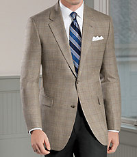 Signature Tailored Fit 2 Button Silk/Wool Sportscoat