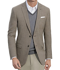 Joseph Slim Fit 2 Button Patterned Sportcoat Extended Sizes