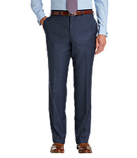 Travelers Slim Fit Sharskin Trousers Extended Sizes