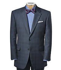 Signature Imperial 2-Button Tailored Fit Wool Suit Extended Sizes