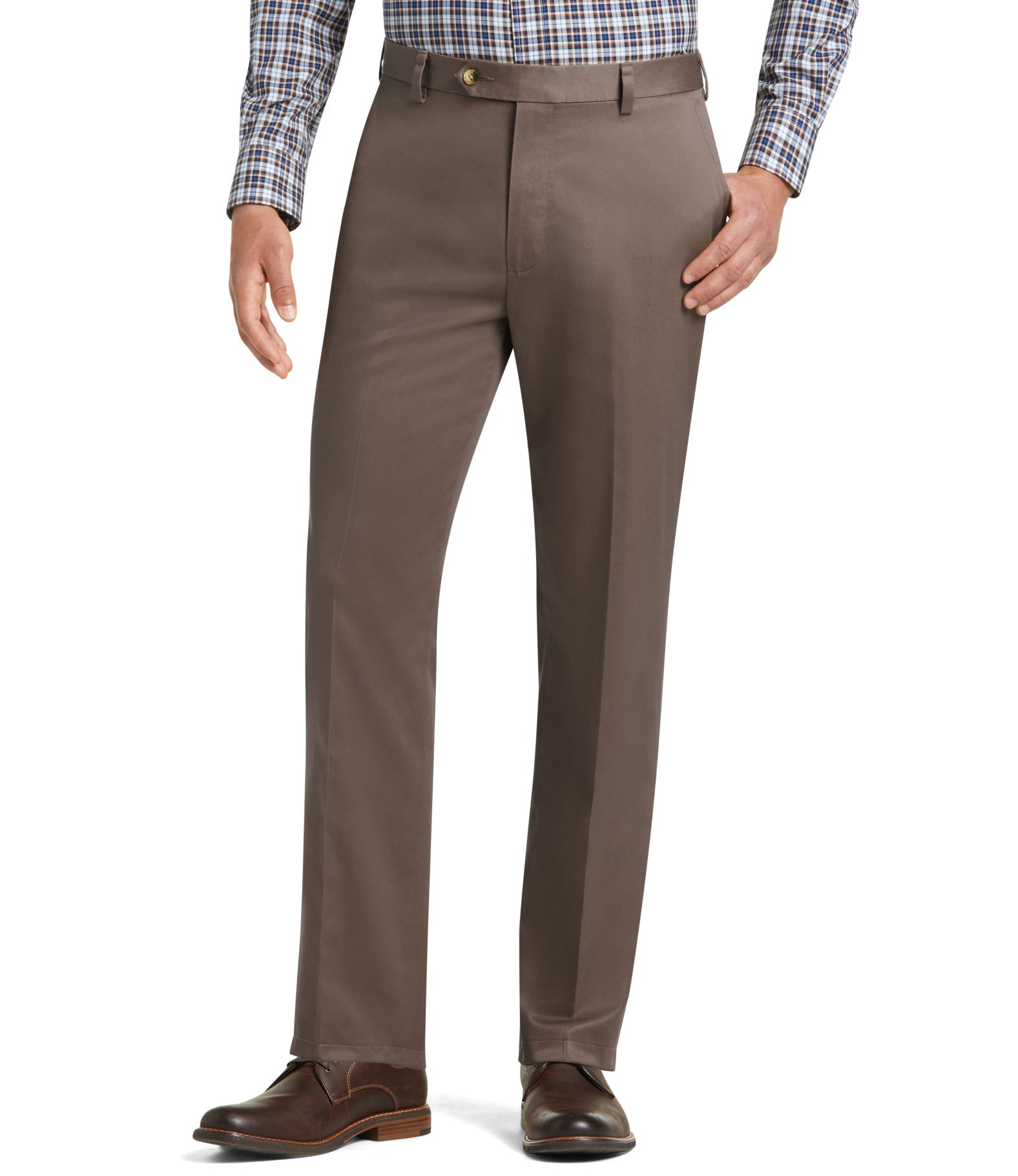 Men's Wrinkle Free Khakis & Twill Pants | Traveler Collection ...