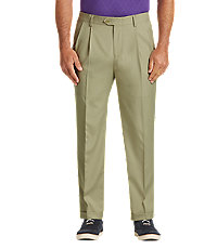 David Leadbetter Traditional Fit Pleated Golf Pants