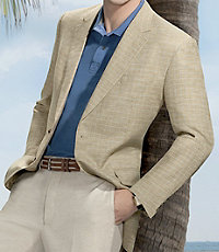 Executive 2-Button Linen/Cotton Patterned Sportcoat