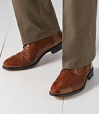 Stratton Woven Cap Toe Shoe by Johnston and Murphy