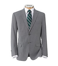 Crossover Slim Fit 2 Button Suit with Plain Front Trousers
