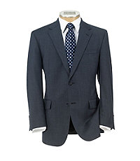 Executive 2-Button Wool Suit Big/Tall Pleat Front