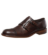 Glenn Double Monk Shoe by Joseph Abboud