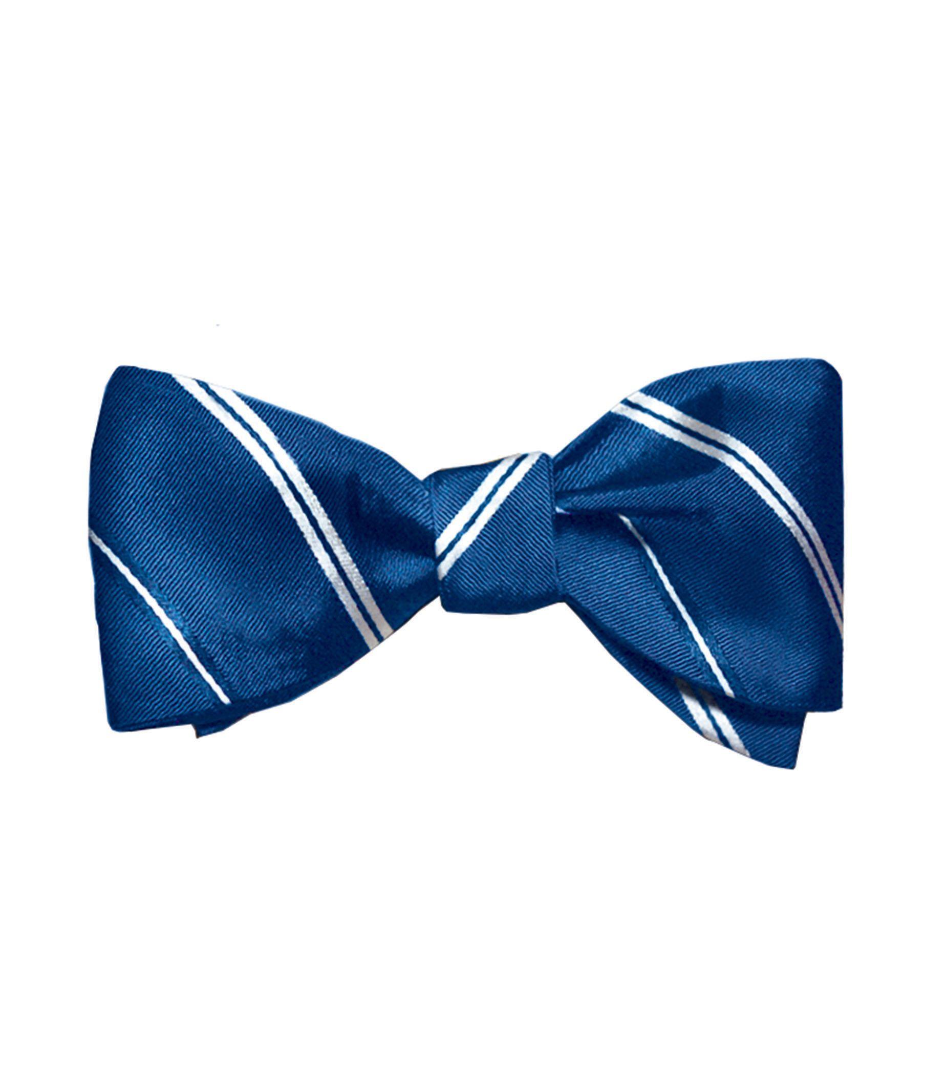 Executive Thin Alternating Stripes Bowtie