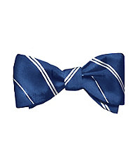 Executive Thin Alternating Stripes Bowtie