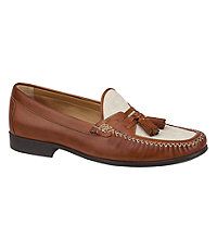 Cresswell Linen Tassel Shoe by Johnston and Murphy