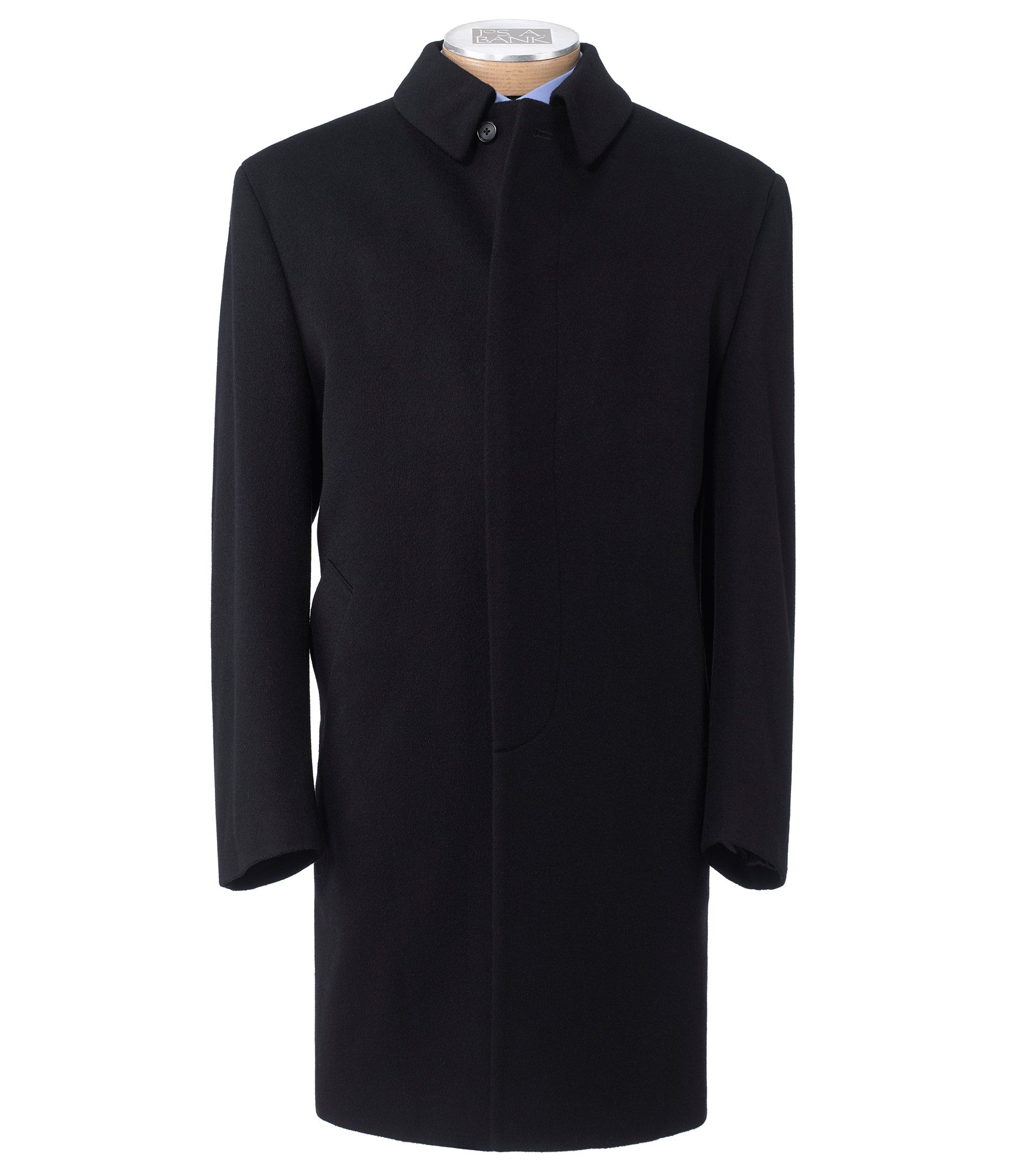 Imperial Blend Three-Quarter Length Bal Collar Topcoat