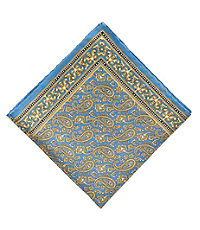 Paisley With Border Pocket Square
