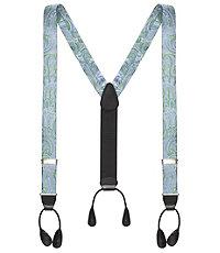 Men's Vintage Style Suspenders Paisley Patterned Silk Braces $29.98 AT vintagedancer.com