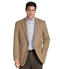 Executive 2-Button Camelhair Blazer Extended Sizes