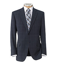 Executive 2-Button Wool Suit with Pleated Front Trousers Regal