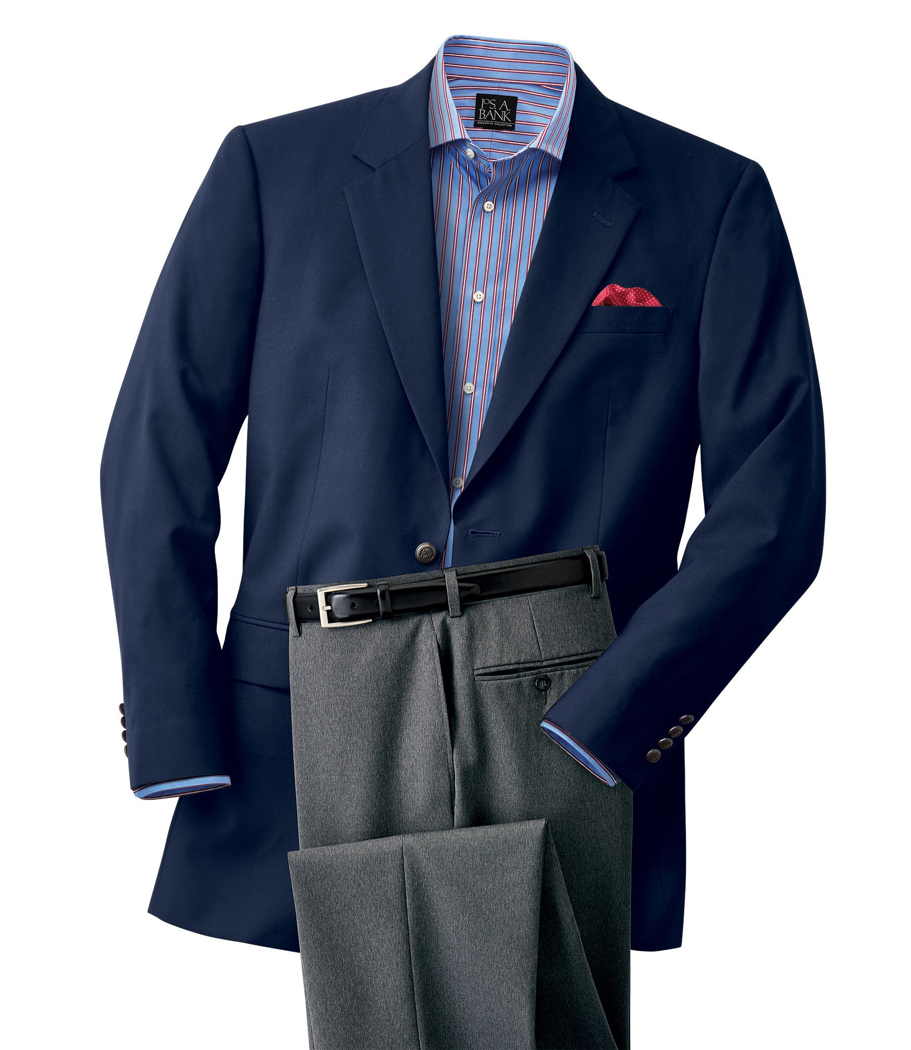 Executive Collection Tailored Fit Blazer - Executive Sportcoats ...