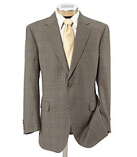 Executive 2-Button Tailored Fit Patterned Sportcoat Ext Sizes