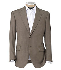 Signature 2-Button Tailored Fit Wool Pattern Sportcoat Ext Sizes