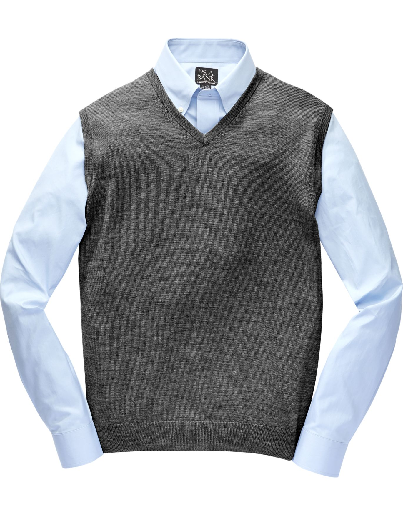 Traveler Collection Traditional Fit Merino Sweater Vest - Big ...