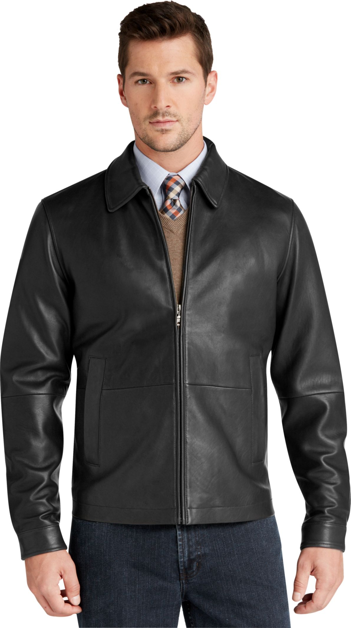 For weekend ventures, check out a more hip, laid-back vibe with a hooded leather jacket in luxe brown. Try out a go-anywhere take on an iconic style with a soft fabric shell finished by faux-leather trim from MICHAEL Michael Kors. Have Some Fun Colors and details offer a great chance to make a statement.