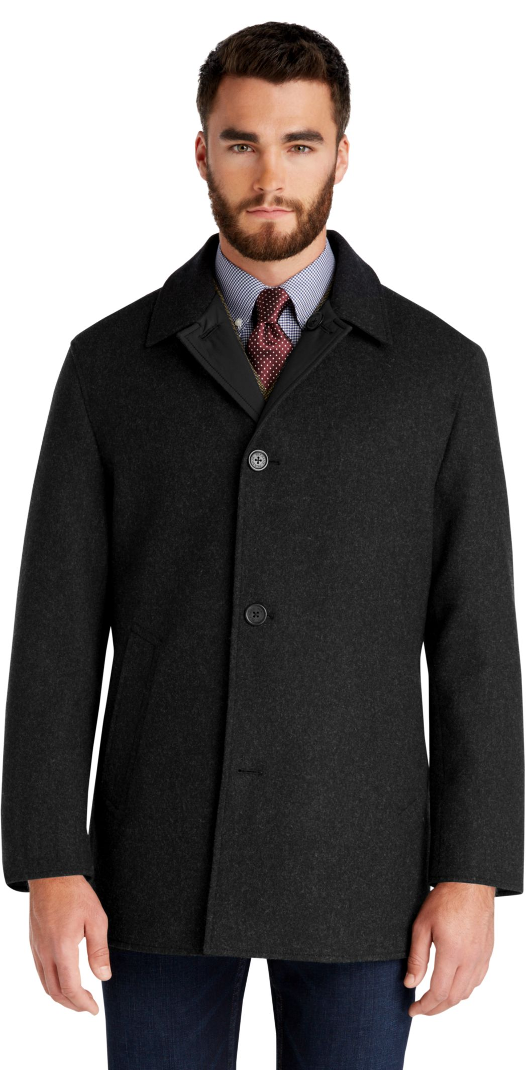 Jos. A. Bank Men's 3/4 Length Reversible Coat $69 pick up at Jos. A. Bank online deal