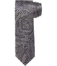 Edwardian Men's Neckties 1905 Collection Large Paisley Tie CLEARANCE $29.98 AT vintagedancer.com