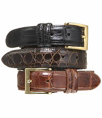 Signature Gold Genuine Alligator Belt