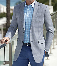 Tropical Tailored Fit Pattern Sportcoat Big and Tall Sizes