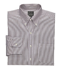 Traveler Pinpoint Fine-Line Buttondown Collar Dress Shirt Big or Tall