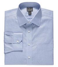 Signature Spread Collar Barrel Cuff Tailored Fit Dobby Dress Shirt Big and Tall