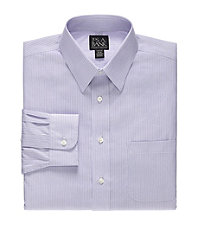 Traveler Wrinkle-Free Point Collar Slim Fit Dress Shirt Big and Tall Sizes