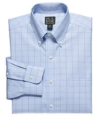 Traveler Spread Collar Slim Fit Patterned Dress Shirt Big and Tall Sizes