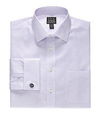 Signature Tailored Fit Spread Collar French Cuff Dress Shirt Big and Tall