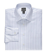 Signature Wrinkle-Free Spread Collar Dress Shirt Big and Tall Sizes
