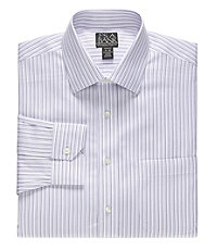 Signature Tailored Fit Spread Collar, Barrel Cuff Dress Shirt Big and Tall
