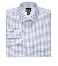 Traveler Slim Fit Spread Collar Medium Check Dress Shirt Big and Tall