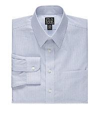Traveler Point Collar Skinny Stripe Dress Shirt Big and Tall Sizes